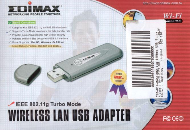 Edimax Wireless USB - Debian Linux Supported